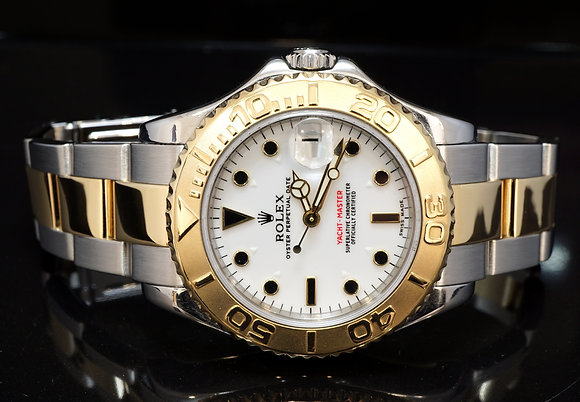 ROLEX 2002 35mm Yacht-Master, Steel & Gold, 168623, Box & Papers