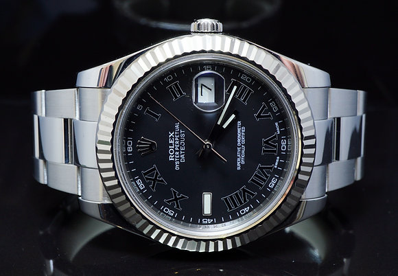 ROLEX 2013 41mm Datejust 2, Steel, 116334, Box & Papers