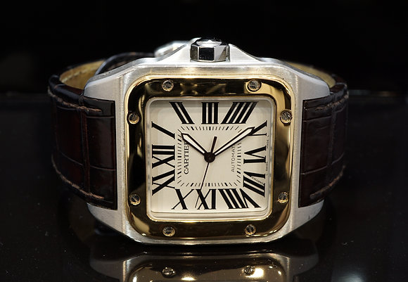 CARTIER 2012 Santos 100XL, Steel & Gold, W20072X7, with Papers