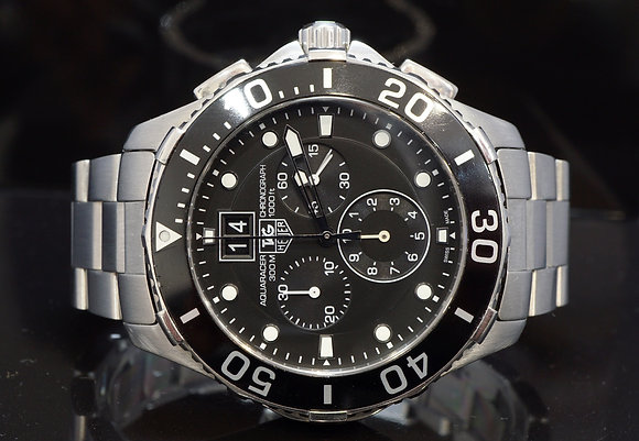 TAG HEUER 2014 Aquarcer Chrono, Steel, CAN1010, Box & Papers
