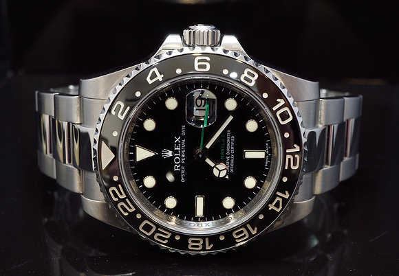 ROLEX 2007 GMT Master II, Steel, 116710LN, MINT, Box & Papers
