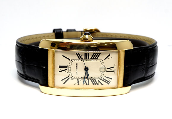 CARTIER Tank Americaine, 1740, 18ct Yellow Gold, Automatic