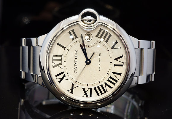 CARTIER 42mm Ballon Bleu, Auto, W69012Z4, Steel, MINT, Boxed