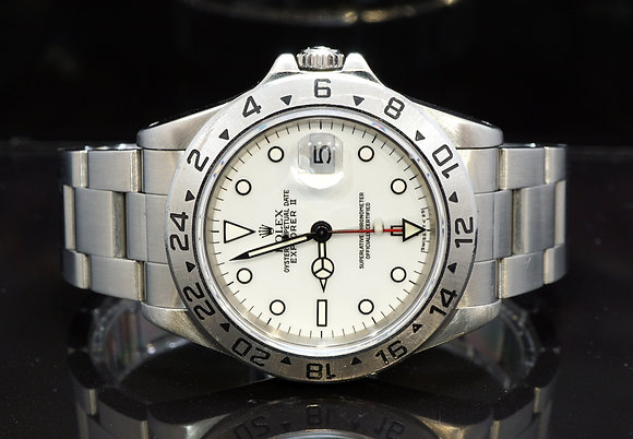 ROLEX 1996 Explorer II, 16570, Polar White, Box & Papers