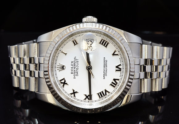 ROLEX 2011 36mm Datejust, Steel, 116234, Box & Papers