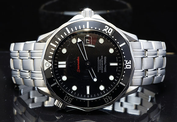 OMEGA 2009 41mm Seamaster, Black, 21230412001002, MINT, Box & Papers