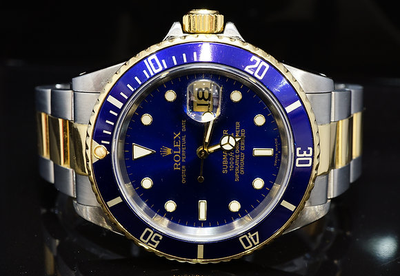 ROLEX 1997 Submariner, Steel & Gold, 16613, Boxed