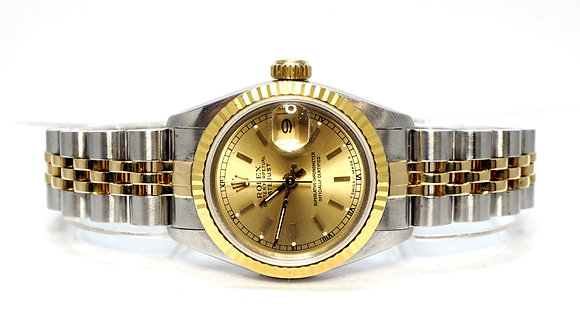 ROLEX 1990 Datejust 26,69173, Steel & Gold, Serviced March 2021, Box & Papers