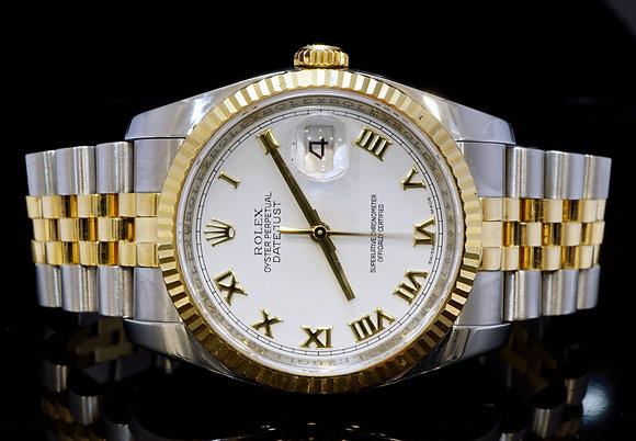 ROLEX 2010 36mm Datejust, Steel & Gold, 116233, MINT, Box & Papers