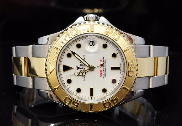 ROLEX 2000 35mm Yacht-Master, Steel & Gold, 168623, MINT, Box & Papers