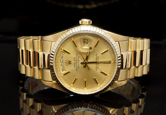 ROLEX 1984 Day-Date 36, 18ct Yellow Gold, 18038, Boxed