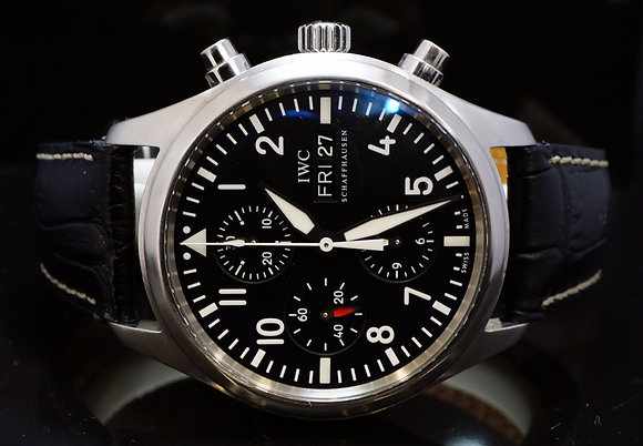 IWC 2010 Spitfire Chronograph, IW371704, Box & Papers