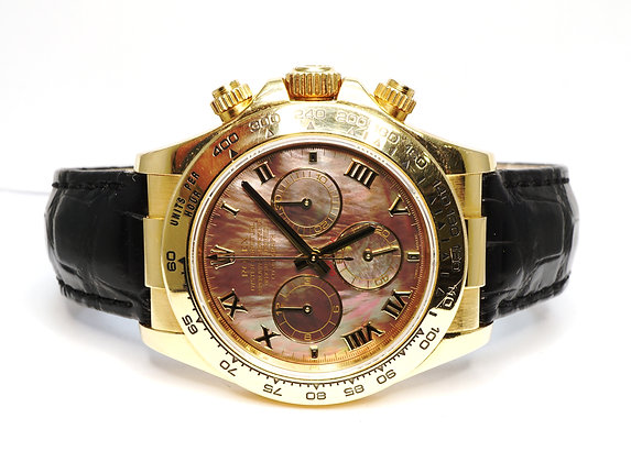 ROLEX 2005 Daytona, 116518, 18ct Yellow Gold, Mother of Pearl Dial, Boxed