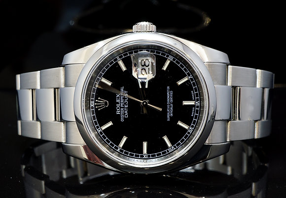 ROLEX 2014 36mm Datejust, Steel, 116200, MINT, Box & Papers