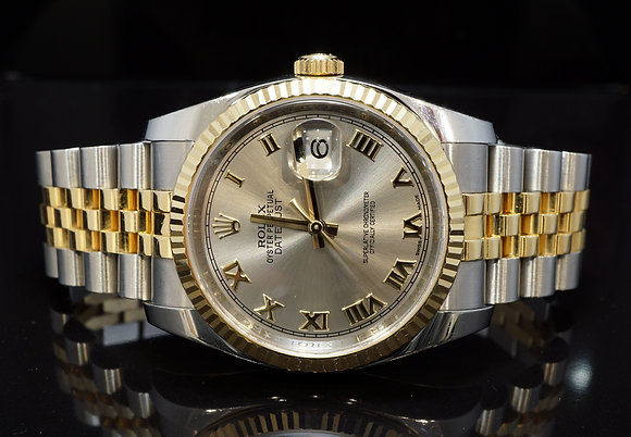 ROLEX 2011+ 36mm Datejust, Steel & Gold, 116233, Boxed