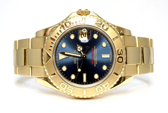 ROLEX 2001 Yacht-Master 35, 168628, 18ct Yellow Gold, MINT, Boxed