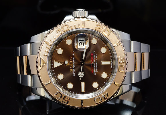ROLEX 2016 40mm Yacht-Master, Steel & Rose Gold, 116621, MINT, Box & Papers