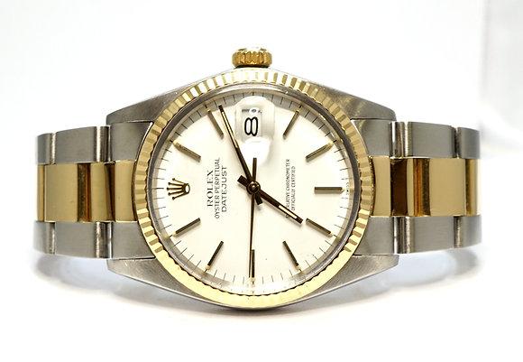 ROLEX 1985 Datejust 36, 16013, Steel & Gold, Oyster Bracelet, Boxed