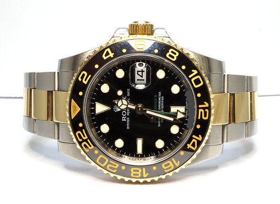 ROLEX 20098 GMT Master II, 116713LN, Steel & Gold, Box & Papers
