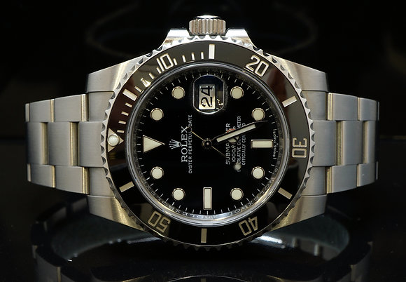 ROLEX 2016 Submariner Date, 116610LN, MINT, Box & Papers