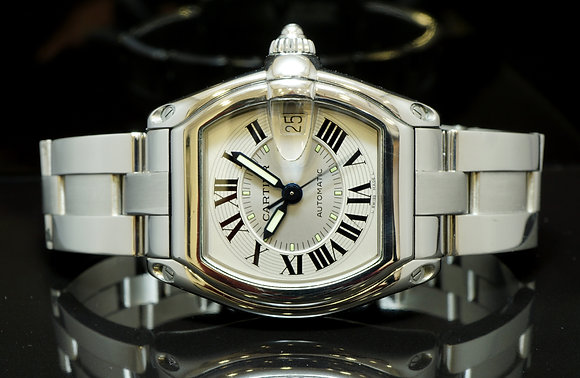 CARTIER Roadster Auto, Spare Strap, Box & Papers