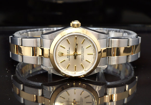 ROLEX 2004 Oyster Perpetual 26, Steel & Gold, 76183, Box & Papers