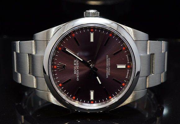 ROLEX 2016 Oyster Pepertual 39, Grape, 114300, Box & Papers