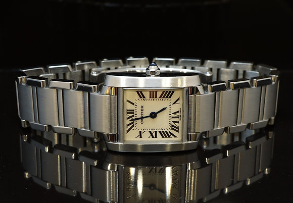 CARTIER Lds Tank Francaise, 2009, Box & Papers