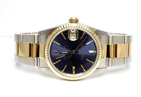 ROLEX 1989 Datejust 31, 68273, Steel & Gold, Blue Baton, Box & Papers