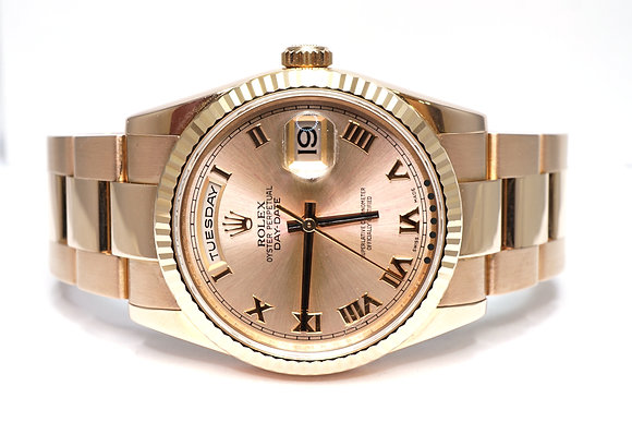 ROLEX 2011 Day-Date 36, 118235, Oyster Bracelet, Box & Papers