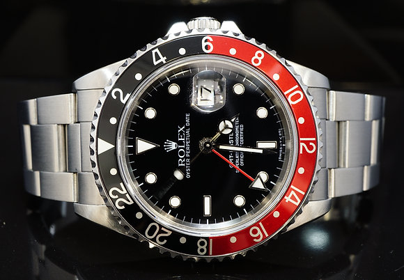ROLEX 1989 GMT Master 2, Coke Bezel, 16710, MINT, Boxed
