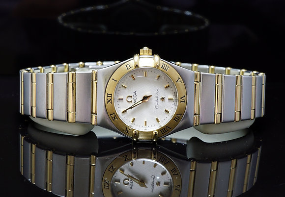 OMEGA 2002 Constellation, Steel & Gold, 12623000, Box & Papers