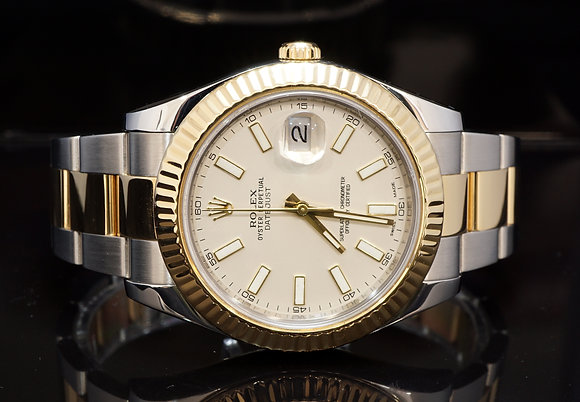 ROLEX 2010 Datejust 2, Steel & Gold, 116333, Box & Papers