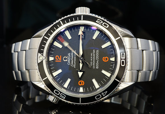 OMEGA 2009 42mm Planet Ocean, 22015100, Box & Papers
