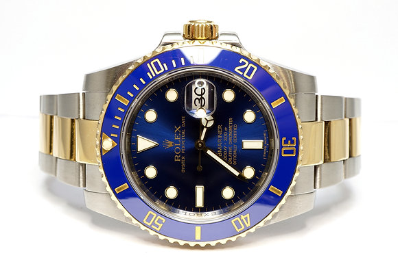 ROLEX 2013 Submariner, 116613LB, Steel & Gold, Box & Papers
