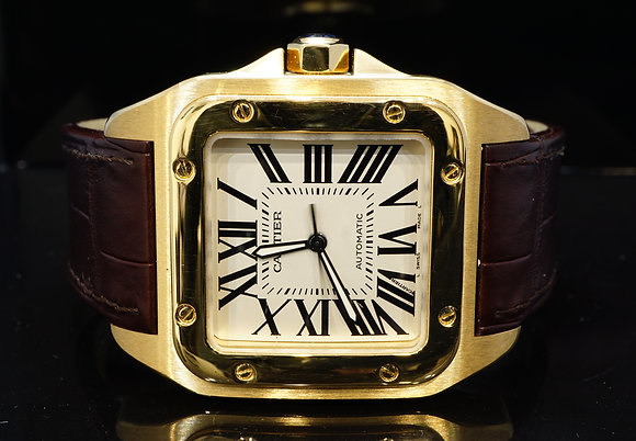 Cartier 2014 Santos 100XL, Yellow Gold, MINT, W20071Y1, Box & Papers