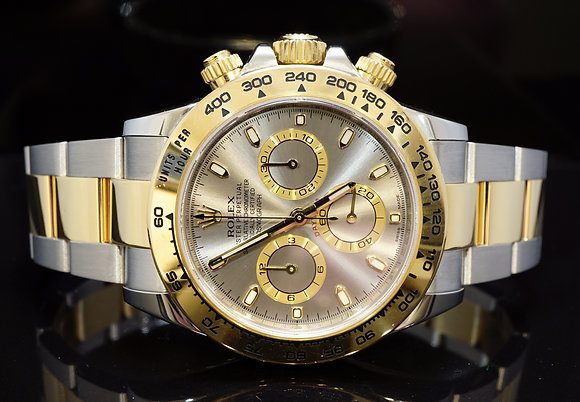 ROLEX 2016 Daytona, Steel & Gold, Grey Dial, 116503, Box & Papers