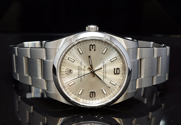 ROLEX 2012 34mm Air-King, Steel, 114200, MINT, Box & Papers