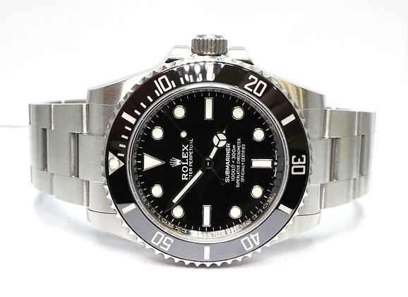 ROLEX 2020 Submariner Non Date, 124060, UNWORN, Box & Papers