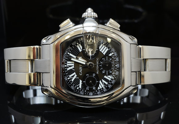 CARTIER Roadster Chrono, W62007X6, Mint, Box & Papers
