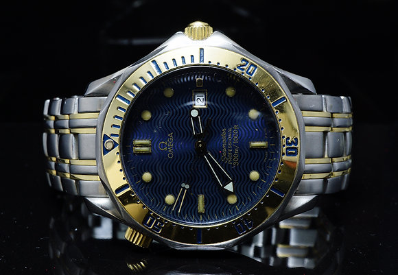 OMEGA 1997 41mm Seamaster, Steel & Gold, 23428000, Box & Papers