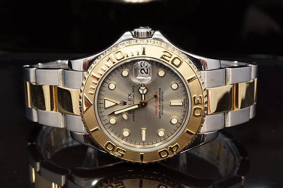 ROLEX 2002 Yacht-Master35, Steel & Gold, 168623, Box & Papers