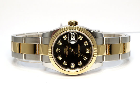 ROLEX 2008 Datejust 26, 179173, Steel & Gold, Diamond Dot Dial, Boxed