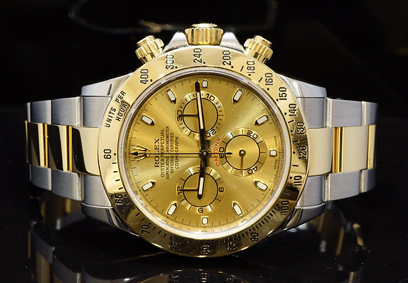 ROLEX 2014 Daytona, Steel & Gold, 116523, MINT, Box & Papers