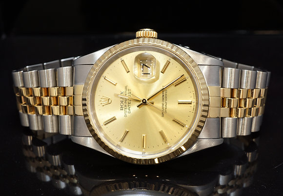 ROLEX 1998 Datejust 36, Steel & Gold, 16233, Box & Papers