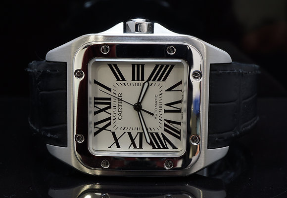 CARTIER Santos 100XL, Stainless Steel, Box & Papers
