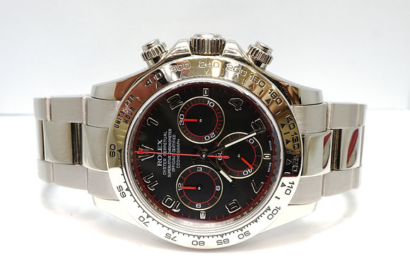 ROLEX 2006 Daytona, 116509, 18ct White Gold, Black Racing Dial, Box & Papers