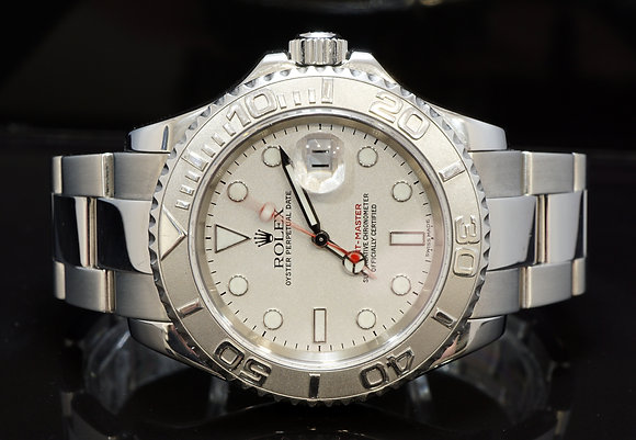 ROLEX 2003 Yacht-Master 40, 16622, Platinum Bezel, Box & Papers