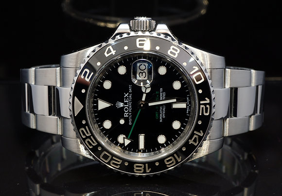 ROLEX 2012 GMT Master II, 116710LN, Serviced by Rolex, Box & Papers