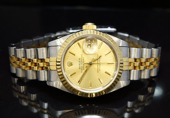 ROLEX 1991 26mm Datejust, Steel & Gold, 69173, Box & Papers
